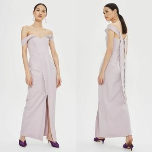 Topshop Crepe Bandeau Column Maxi Dress